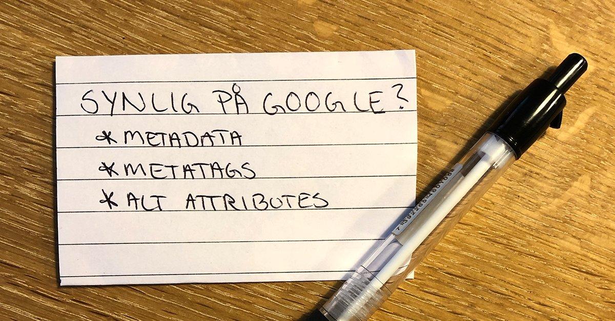 Hvordan bliver man synlig på Google?
