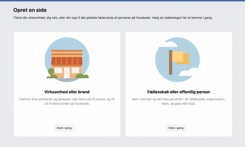 Facebook-opret-en-side